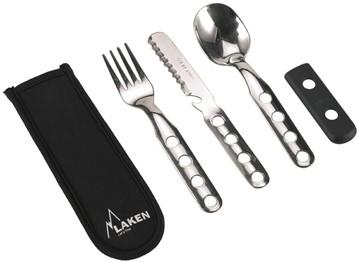 Afbeeldingen van Stainless steel cutlery w. neoprene cove