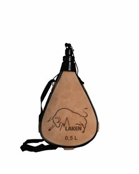 Afbeeldingen van Leather canteen straight 0.5L