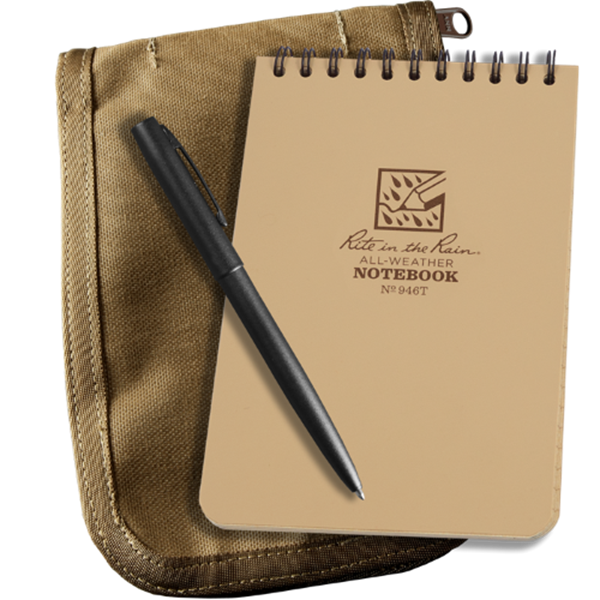 Afbeeldingen van Canvas cover + notebook 146 + pen Tan